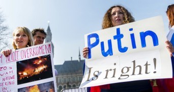 NETHERLANDS-UKRAINE-RUSSIA-DEMO